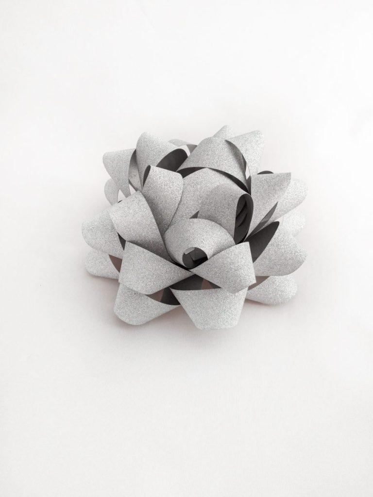 Gwiazdki brokatowe srebrne