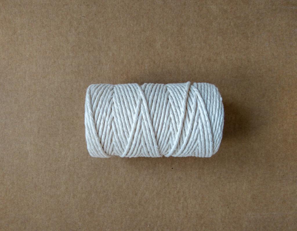 Sznurek bawełniany biały