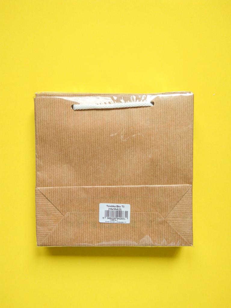 Torebka papierowa eko t3