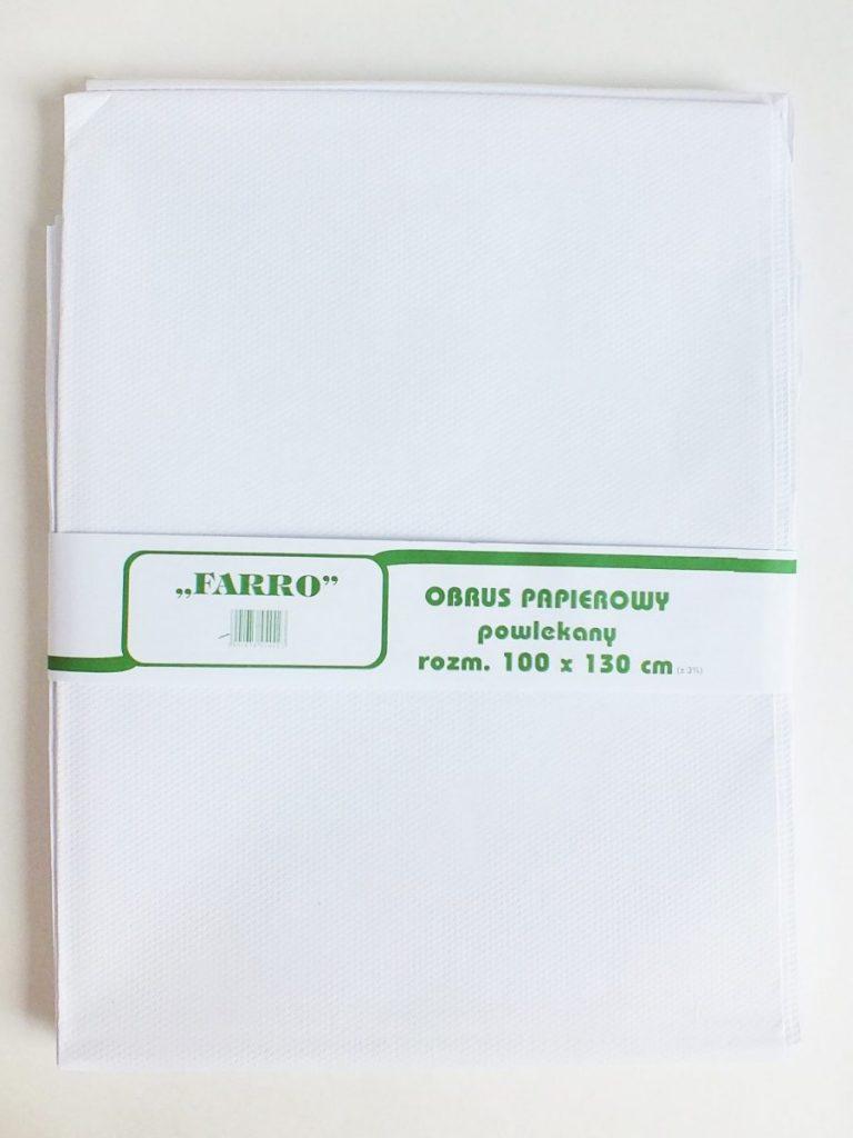 Obrus papierowy powlekany