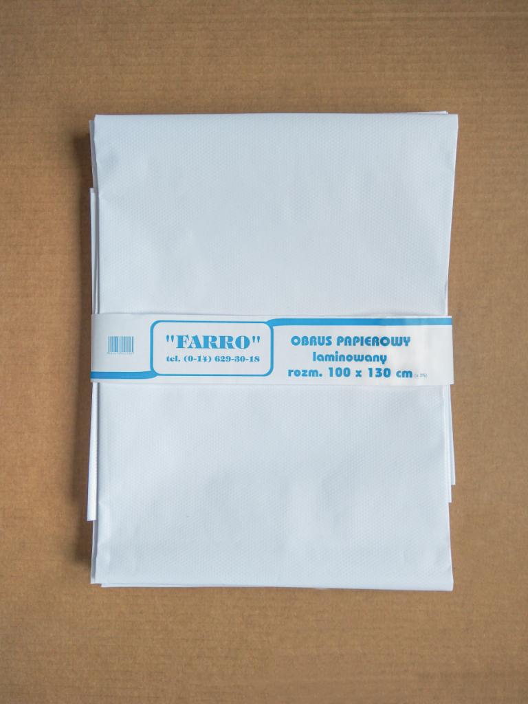 Obrus papierowy laminowany