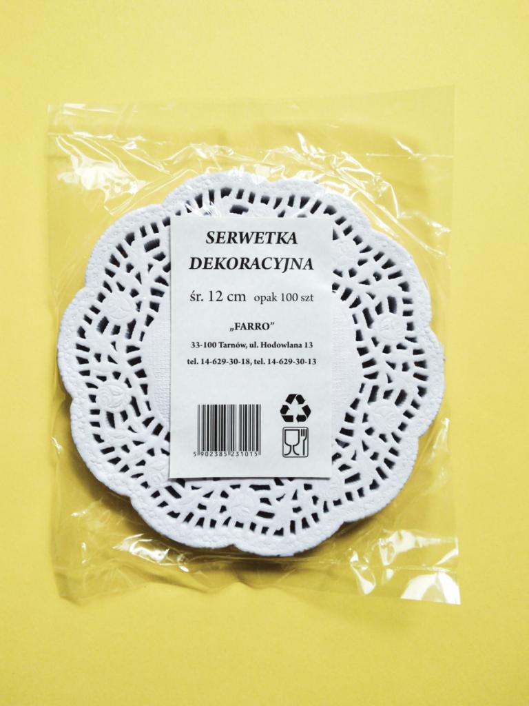 Serwetki dekoracyjne okrąg