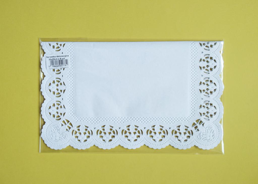 Serwetki dekoracyjne prostokąt